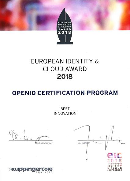 EIC 2018 Award Certificate